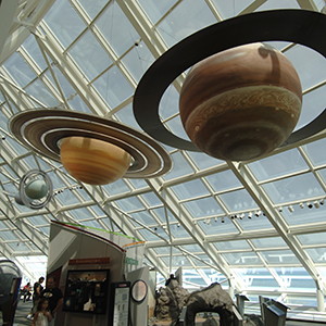 Adler Planetarium Display with Planets