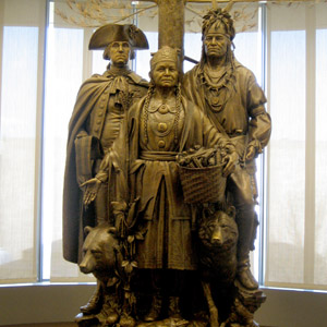 Statue at National Museum of American Indian