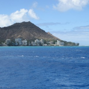 Diamond Head from the water