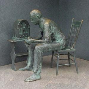 FDR Memorial Fireside Chat Statue